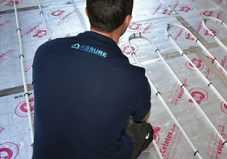 Assure Heating and Plumbing fitting underfloor heating